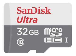 Memoria Micro Sd Sandisk 32gb Clase 10 Full Hd Original Blister Cerrado Con Adaptador Celular Tablet Notebook Camaras