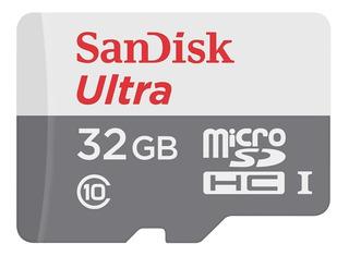 Memoria Micro Sd Sandisk 32gb Clase 10 Full Hd Original Blister Cerrado Con Adaptador Celular Tablet Notebook Camaras