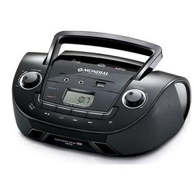 Rádio Portátil Mondial Usb Auxiliar Rádio Fm Fone De Ouvido