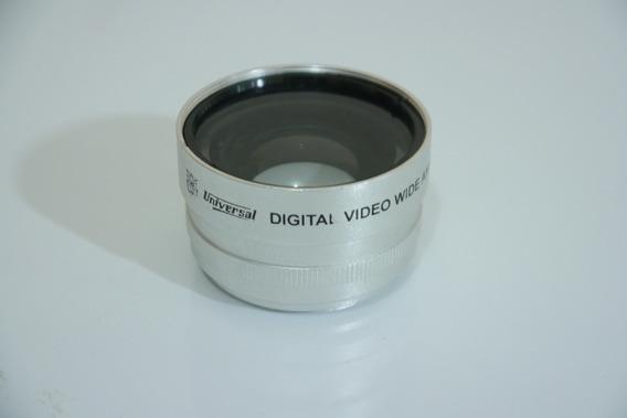 Lente Universal Digital Video Grande Angular 0,5x Rosca 37mm