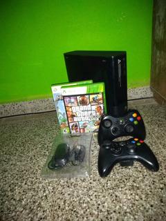 Xbox 360 Con 2 Joystick Y 12 Juegos Con Receptor Para Pc