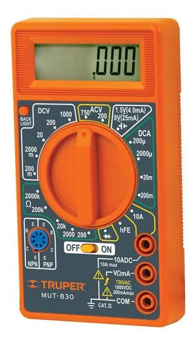 Multitester Digital Truper Mut-830