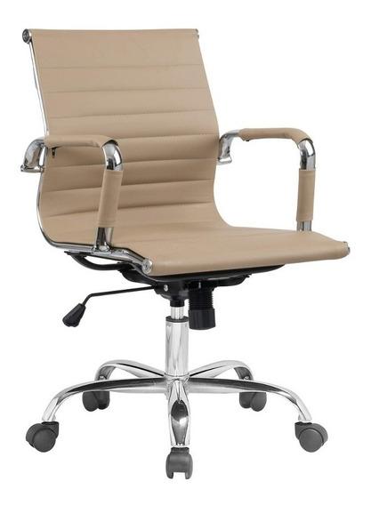 Cadeira Diretor Giratória Estofada Com Rodízios Jjwt