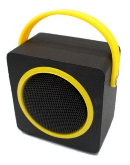 Caixa De Som Sk404 Bluetooth Fm Micro Sd 10w Oex Amarelo