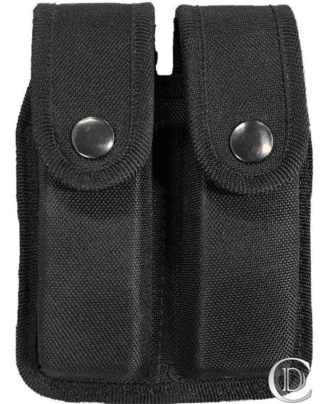 Porta Cargador Doble Negro Termoformado Doble Verde 9mm