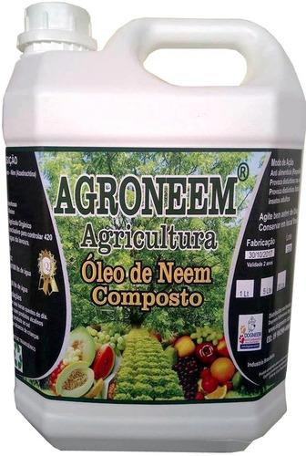 5 Litros Óleo De Neem Composto Agro Neem Frete Free