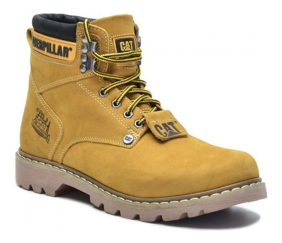 Bota Coturno Masculino Caterpillar Cat Original 100% Couro