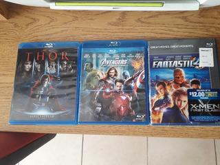Lote Peliculas Blu Ray Marvel Blue Ray Avengers, Thor