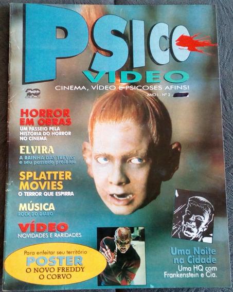 Revista Psico Video Nº 02 + Pôster Freddy Krueger E O Corvo