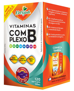 Vitamina Complexo B 125mg 120 Mini Cápsulas - Katiguá+brinde