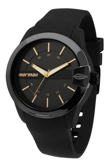 Relógio Mormaii Mopc21jah/8p Mopc21jah 8p Mopc21jah8p Preto Dourado Silicone Fem