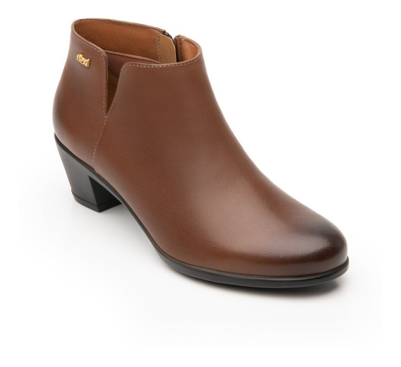 Calzado Zapato Flexi 15424 Negro Tan Casual