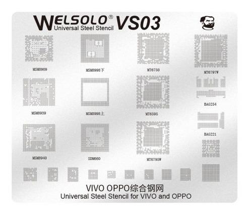 Mechanic Welsolo Vs03 Universal Stencil Bga Reballing