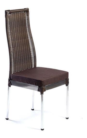 Cadeira Em Junco Fibra Sintética E Alumínio De Jantar
