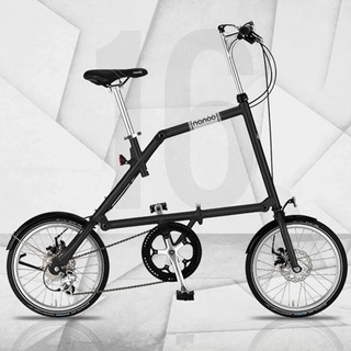 Bicicleta Plegable Nanoo Rin 16 Color Negra Mate Italiana