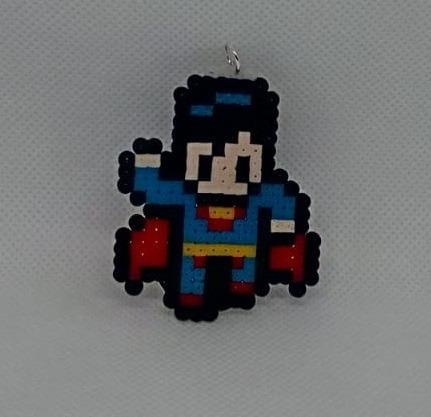 Key Chain Pixel Superman