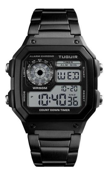 Relógio Tuguir Digital Tg1335 Preto Lançamento C/nf*original