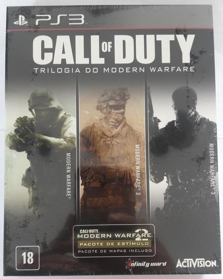 Call Of Duty Trilogia Do Modern Warfare, Ps3, Novo, Disco.