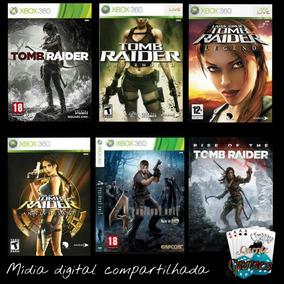 Combo Tomb Raider+resident Evil 4 Digital Compartilhado X360