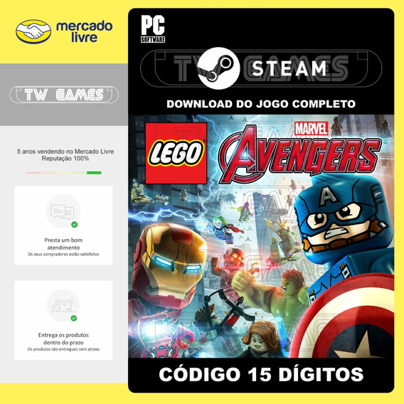 Lego Marvel Vingadores Digital Pc Código 15 Dígitos Steam