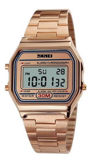 Relógio Unissex Skmei Digital 1123 - Rosê Original