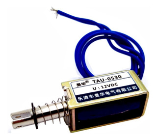 Mini Cerradura Solenoide 12 Voltios 1 Amperio 15 Newton 10mm