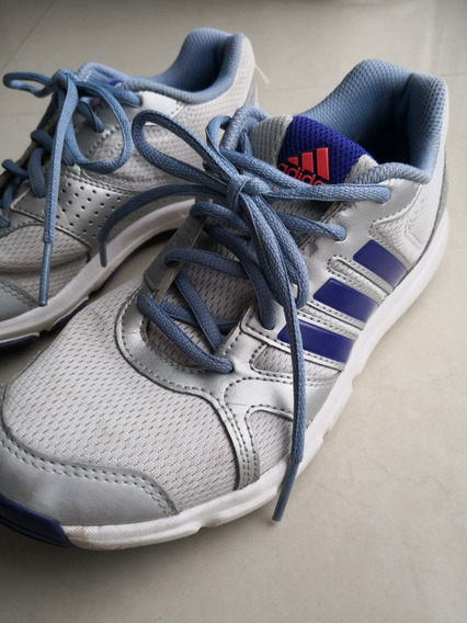 Zapatillas adidas Originales Gris Plateado Mujer Talle 36