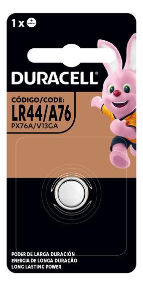 Pila Duracell Alcalina Botón Lr44 A76 V13ga 1,5v 6 Unidades