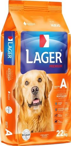 Imagen 1 de 2 de Alimento Perro Adulto Lager Premium 32 Kg + Regalo + Envío