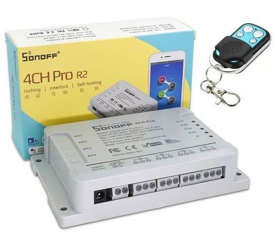 Sonoff 4ch Pro R2 Via Wifi 4 Canais + Controle Remoto 433mhz