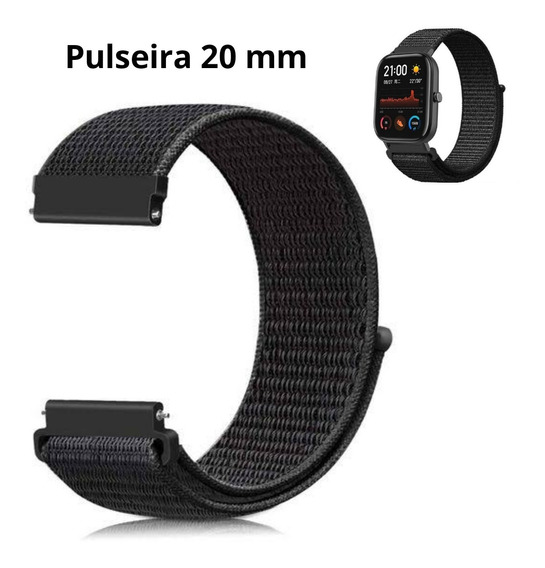 Pulseira Nylon 20mm Velcro Xiaomi Amazfit Gts Bip Gtr 42mm