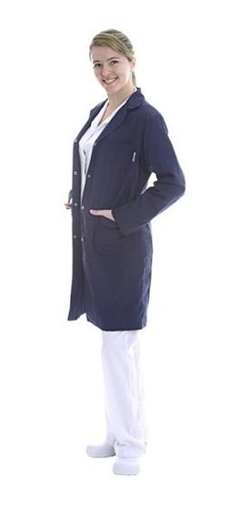 Guardapolvo Azul De Medicina Suedy Mujer Uniforme Arciel