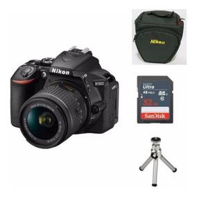 Câmera Nikon D5600 C/18-140mm Dx+ 32gb+ Bolsa+ Tripé+ Nf