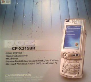 Smartphone Pocket Pc Poz Cp-x315br - Cdma Ix Evdo Cyberbank