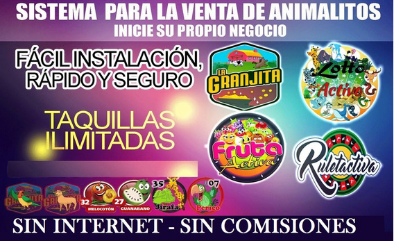 Programa Para Vender Animalitos Sin Internet Loto Activo Mas