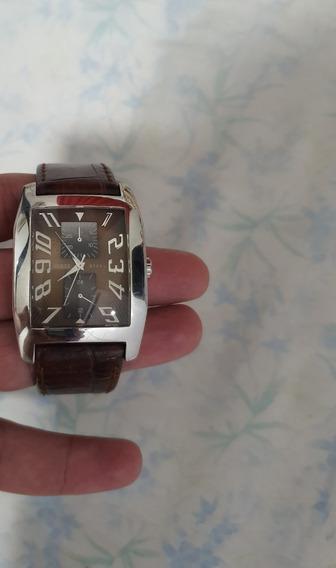 Relógio Guess Original Importado Pulseira Couro Marrom