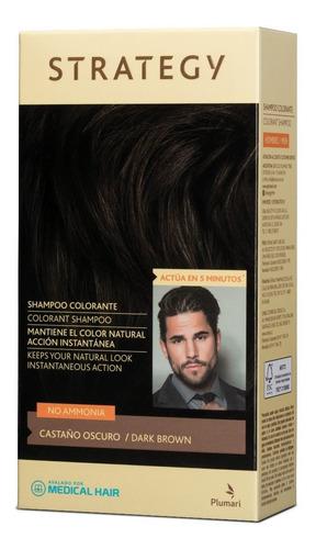 Shampoo Colorante Strategy Men Cabello, Barba Y Bigote 5 Min