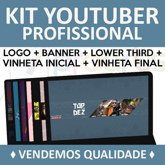 Kit Youtuber - Vinhetas - Banner - Logo - Lower Third - Mais