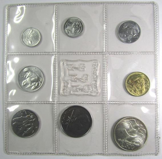 San Marino Set De 8 Monedas 1 A 500 Liras Año 1975
