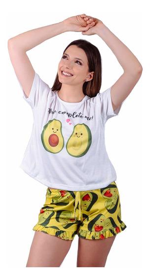 Conjunto Pijama Paltas Short Moda Mujer Regalo Pareja Novios