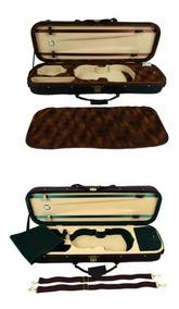 Estojo Case Para Violino 4/4 Super Luxo Com Chave