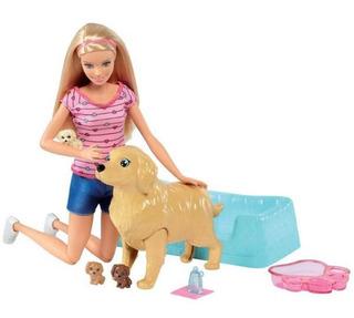 Muñeca Barbie Cachorros Recien Nacidos Perritos