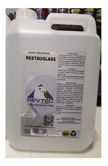 Restaurador De Vidro Removedor De Chuva Ácida E Manchas