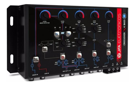 Crossover Jfa X4 Bass Digital Eletronico 4 Vias Processador
