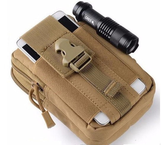 Bolsa Porta Treco Bornal Militar Tan Pochete De Cintura