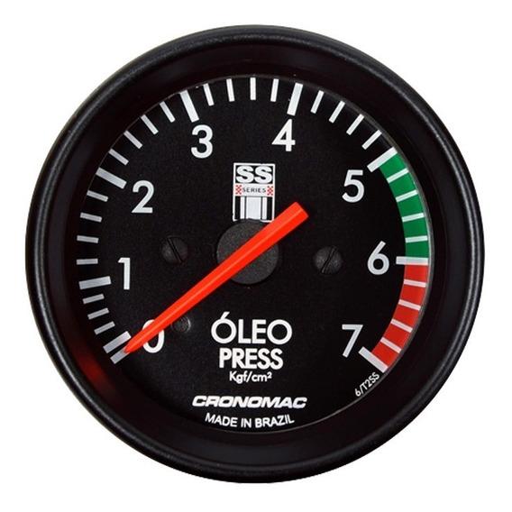 Manômetro Pressão De Óleo 10 Kg 60mm Gm Ss Series Cronomac