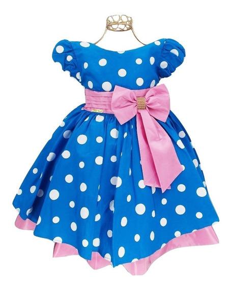 Oferta!! Vestido Infantil Galinha Pintadinha Rosa Festa