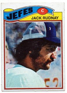 1977 Topps Mexican Jack Rudnay Jefes De Kansas City # 487