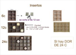 Caja Estuche Regalo 24 Chocolates Dorada Con Inserto 25jgo