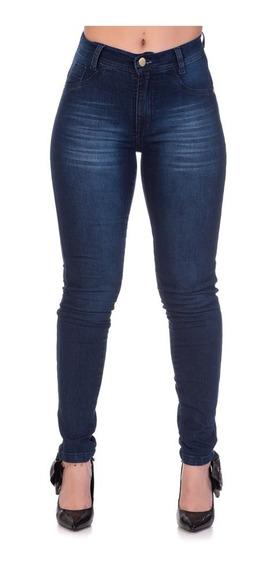 Calça Jeans Feminina Skinny Cós Alto Levanta Bum Bum Oferta